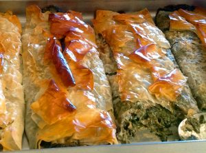 Spinach phyllo pies